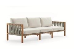 - 3 seater teak garden sofa MISTRAL | 3 seater sofa - RODA