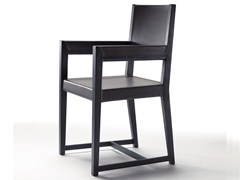 - Solid wood chair with armrests MARGARET | Chair with armrests - FLEXFORM
