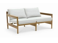 - 2 seater teak garden sofa ROAD | 2 seater sofa - RODA