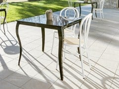 - Lacquered square table GLAN | Lacquered table - Mara