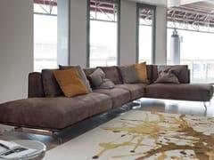 - Corner imitation leather sofa DALTON LEATHER | Corner sofa - Ditre Italia