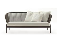 - 2 seater stainless steel garden sofa SPOOL | 2 seater sofa - RODA