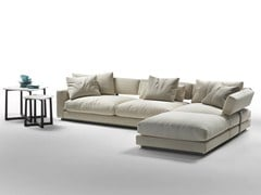 - Corner sectional fabric sofa PLEASURE | Corner sofa - FLEXFORM