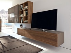 - Low lacquered wall-mounted TV cabinet NEO | Wall-mounted TV cabinet - Hülsta-Werke Hüls