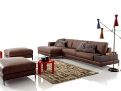 - Corner imitation leather sofa ARTIS LEATHER | Corner sofa - Ditre Italia