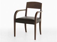- Upholstered beech chair with armrests LASA P | Chair with armrests - Crassevig