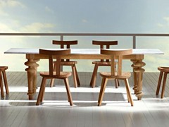 - Rectangular oak table INOUT 733 - Gervasoni
