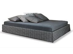 - Double bed with removable cover GHOST 80 EL - Gervasoni