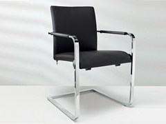 - Cantilever leather chair with armrests D2-7 | Chair with armrests - Hülsta-Werke Hüls