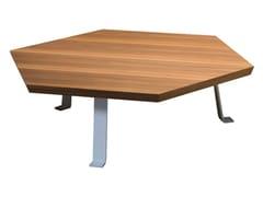- Hexagonal top low coffee table for living room SWEET 46 - Gervasoni