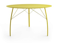 - Lacquered round wooden table SOSPESO R - Crassevig