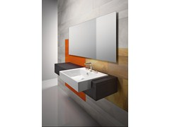 - Semi-inset ceramic washbasin PREMIUM 55X47 | Semi-inset washbasin - CERAMICA CATALANO