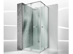 - Corner custom tempered glass shower cabin REPLAY RA+RA - VISMARAVETRO