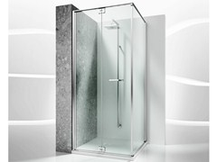 - Corner custom tempered glass shower cabin REPLAY RA+RF - VISMARAVETRO