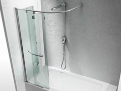 - Tempered glass bathtub wall panel REPLAY SR - VISMARAVETRO