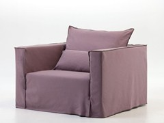 - Armchair with removable cover with armrests BRICK 09 - Gervasoni
