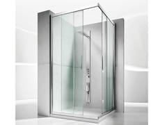 - Corner custom crystal shower cabin with sliding door SERIE 6000: 6200 - VISMARAVETRO