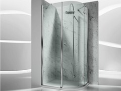 - Corner semicircular custom tempered glass shower cabin SINTESI SD - VISMARAVETRO