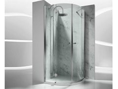 - Corner semicircular custom tempered glass shower cabin SINTESI ST - VISMARAVETRO