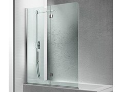 - Folding tempered glass bathtub wall panel SINTESI SV - VISMARAVETRO