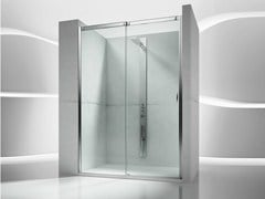 - Niche tempered glass shower cabin with sliding door SLIDE VN - VISMARAVETRO