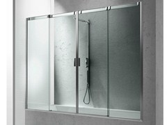 - Tempered glass bathtub wall panel SLIDE B4 - VISMARAVETRO