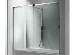 - Tempered glass bathtub wall panel SLIDE BN - VISMARAVETRO