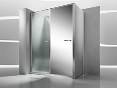 - Corner shower cabin with storage container TWIN T32 - VISMARAVETRO