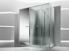 - Shower cabin with storage container TWIN T25 - VISMARAVETRO
