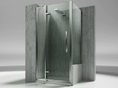 - Custom tempered glass shower wall panel TIQUADRO QN+QP - VISMARAVETRO