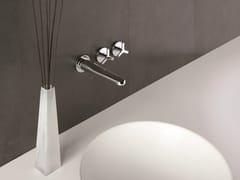 - 3 hole wall-mounted washbasin tap BEAK | Wall-mounted washbasin tap - CRISTINA Rubinetterie