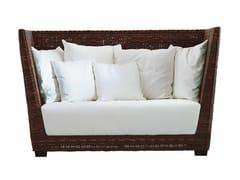 - 2 seater high-back sofa in handwoven black pulut BLACK 02 - Gervasoni