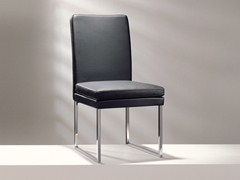 - Sled base upholstered high-back leather chair D13-31   High-back chair - Hülsta-Werke Hüls
