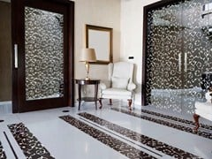 Porta scorrevole in vetroSINERGY   Porta in vetro - BRECCI BY EIDOS GLASS