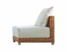 - Modular garden armchair in handwoven dark pulut NET 06 - Gervasoni