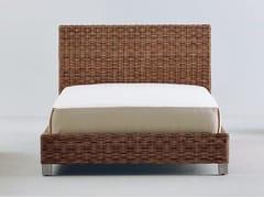 - Handwoven dark pulut single bed NET 80 | Single bed - Gervasoni