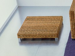 - Low square handwoven dark pulut coffee table NET 11 - Gervasoni
