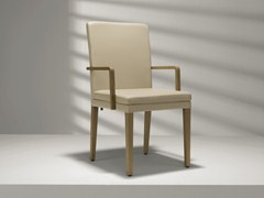 - Upholstered leather chair with armrests D20 | Chair with armrests - Hülsta-Werke Hüls