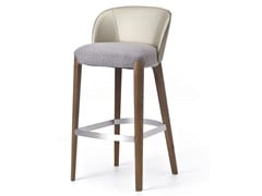 - Contemporary style upholstered wooden counter stool with footrest BELLEVUE 06 | High stool - Very Wood