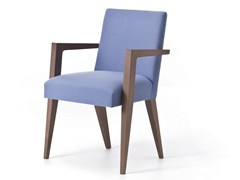 - Contemporary style upholstered wooden guest chair with armrests METRO 02 - Very Wood