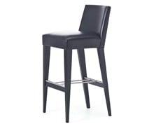 - Contemporary style high wooden barstool with footrest METRO 06 - Very Wood
