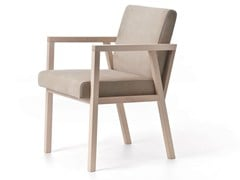 - Contemporary style wooden easy chair with armrests PARIS 02 - Very Wood