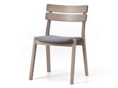- Open back wooden garden chair FRAME 11 - Very Wood