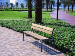 - Panchina con schienale VERA | Panchina in acciaio e legno - mmcité 1