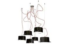 - Aluminium pendant lamp POTS 6 - Minacciolo