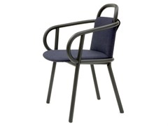 - Contemporary style upholstered ash guest chair with armrests ZANTILAM 02 | Easy chair - Very Wood