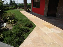 - Natural stone outdoor floor tiles GOLDEN LEAF | Outdoor floor tiles - GRANULATI ZANDOBBIO