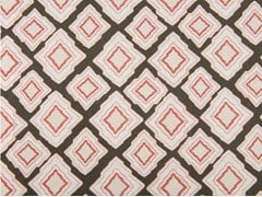 - Cotton fabric with graphic pattern SHANNYN PATCH - KOHRO