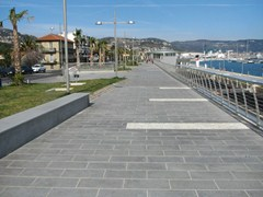 - Granite outdoor floor tiles DIORITE - GRANULATI ZANDOBBIO