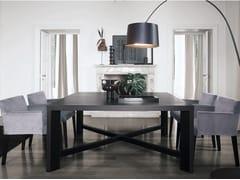 - Square wood veneer table ZEUS | Square table - Poliform